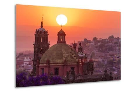 Mexico, San Miguel De Allende. City Overview at Sunset-Jaynes Gallery-Metal Print