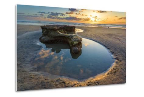 Rock Formations at Swamis Beach in Encinitas, Ca-Andrew Shoemaker-Metal Print