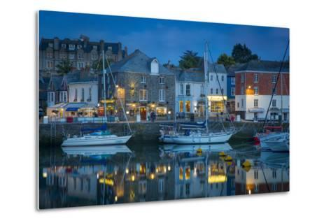 Twilight over Harbor Village of Padstow, Cornwall, England-Brian Jannsen-Metal Print