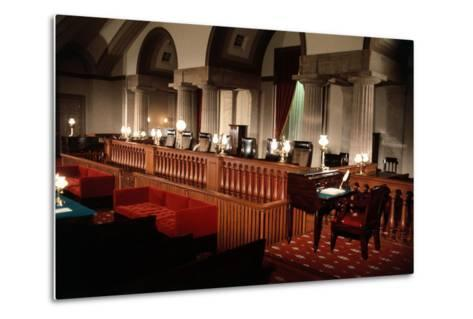Supreme Court without Occupants--Metal Print