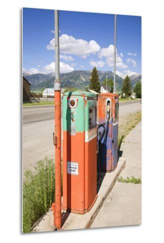 Multi-Colored Antique Gas Tanks, Idaho-Joseph Sohm-Metal Print