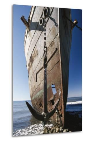 Chile, Punta Arenas, Shipwreck of Lonsdale Port Area-Walter Bibikow-Metal Print