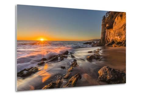 Sunset at Victoria Beach in Laguna Beach, Ca-Andrew Shoemaker-Metal Print