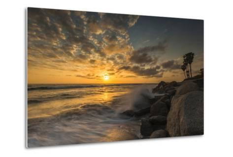 Sunset Along Tamarack Beach in Carlsbad, Ca-Andrew Shoemaker-Metal Print
