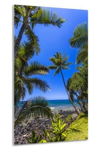 Tropical Coastline of Princeville, Hi-Andrew Shoemaker-Metal Print
