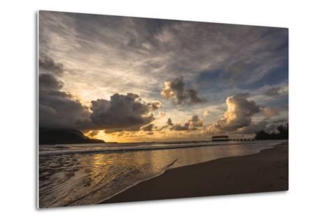 Sunset in Hanalei Bay, Kauai-Andrew Shoemaker-Metal Print