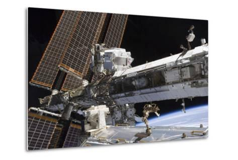 The Starboard Truss of the International Space Station--Metal Print