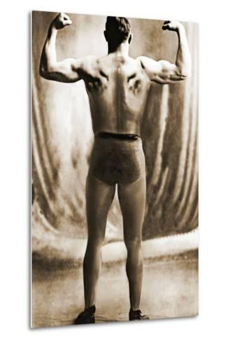 Danish Heavyweight Wrestler, 1913--Metal Print