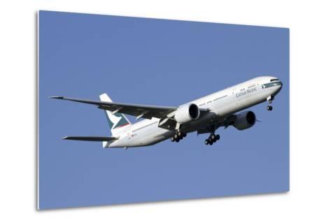 Boeing 777-200 of Cathay Pacific Airways--Metal Print