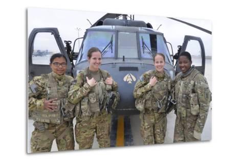 A U.S. Army All Female Crew--Metal Print