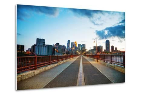 Downtown Minneapolis, Minnesota at Night Time-photo.ua-Metal Print