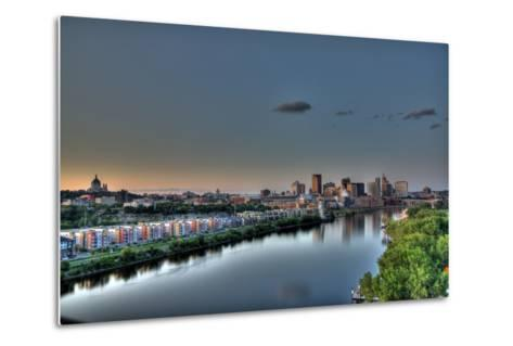 Downtown St. Paul, MN Skyline and Reflection-Klement Gallery-Metal Print