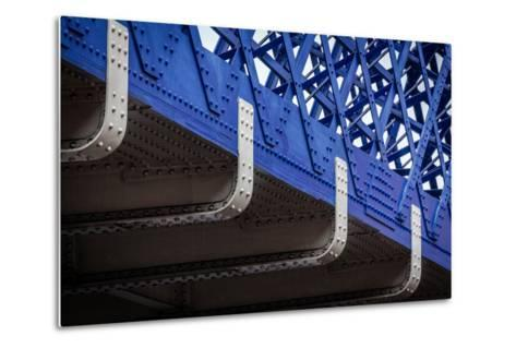 Blue Bridge Detail--Metal Print