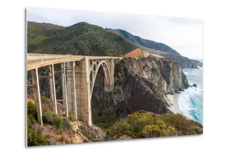 The Historic Bixby Bridge on the Pacific Coast Highway California Big Sur-flippo-Metal Print
