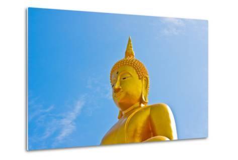 Buddha  Gold Statue-redarmy030-Metal Print