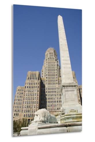 Historic City Hall, McKinley Monument Obelisk, Buffalo, New York, USA-Cindy Miller Hopkins-Metal Print