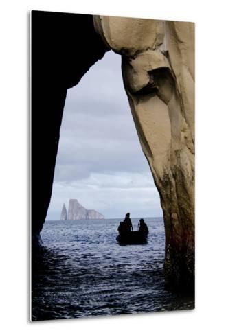 Kicker Rock Seen Through a Cave from San Cristobal, Galapagos, Ecuador-Cindy Miller Hopkins-Metal Print
