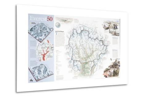 2003 Everest 50-National Geographic Maps-Metal Print