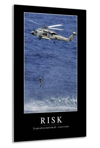 Risk: Inspirational Quote and Motivational Poster--Metal Print
