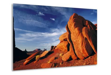 Rock Formations of Monument Valley, Navajo Nation, USA-Jerry Ginsberg-Metal Print