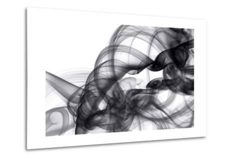 White Smoke Abstract-GI ArtLab-Metal Print