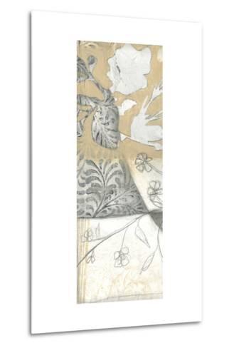 Neutral Garden Abstract V-Jennifer Goldberger-Metal Print
