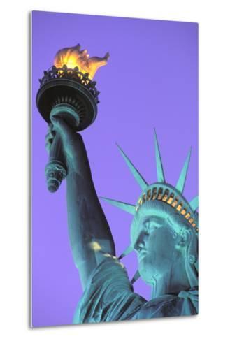 Statue of Liberty, New York, USA-Peter Bennett-Metal Print