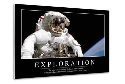 Exploration: Inspirational Quote and Motivational Poster--Metal Print