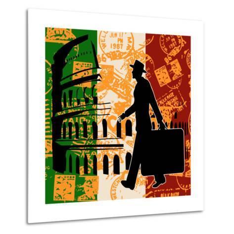 Italian Travel Flyer-Petrafler-Metal Print
