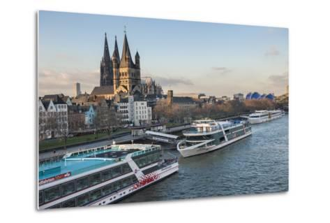 The Great Saint Martin Church and Cologne Cathedral, Cologne, Germany-Lisa S^ Engelbrecht-Metal Print