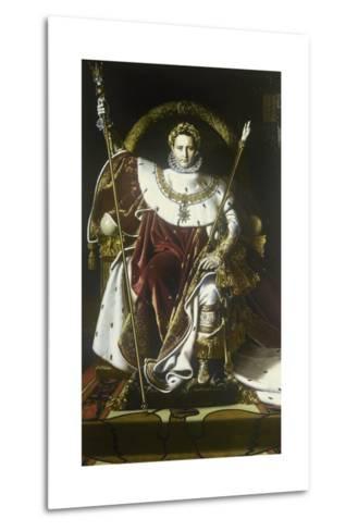 Napoleon I on the Imperial Throne-Jean-Auguste-Dominique Ingres-Metal Print