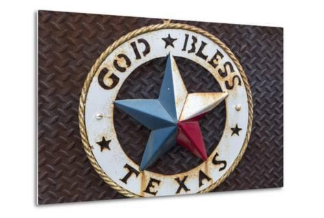Lone Star of Texas, John Mueller Meat Company, Austin, Texas, USA-Chuck Haney-Metal Print