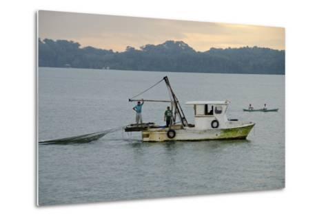 Early Morning Local Fishing Boat, Livingston, Rio Dulce, Guatemala-Cindy Miller Hopkins-Metal Print