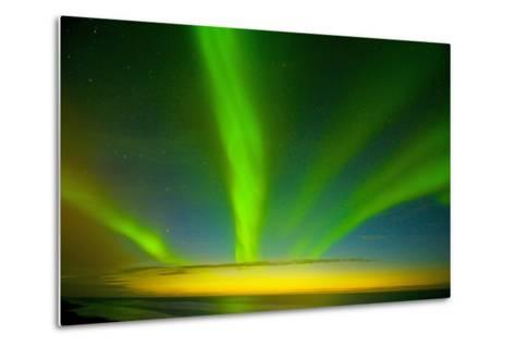 Northern Lights, Beaufort Sea, ANWR, Alaska, USA-Steve Kazlowski-Metal Print