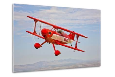 A Pitts Special S-2A Aerobatic Biplane in Flight Near Chandler, Arizona--Metal Print