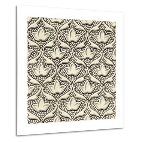 Ornamental Tile Motif IV-Vision Studio-Metal Print