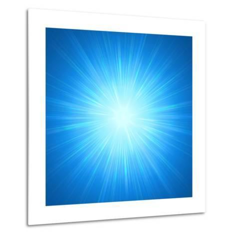 Shining Blue Lights-marinini-Metal Print