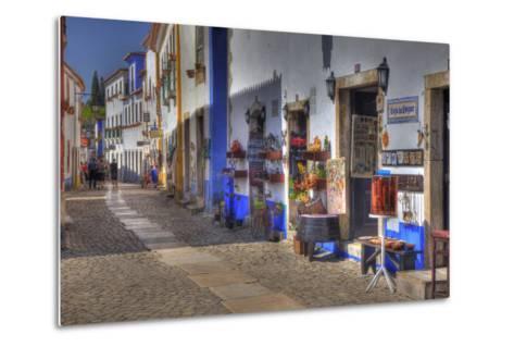 Street Along Obidos, Leiria, Portugal-Julie Eggers-Metal Print