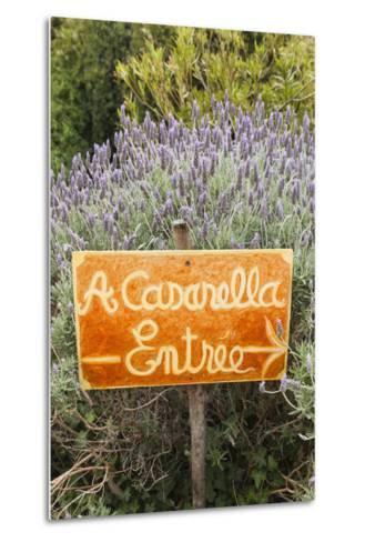 Outdoor Bar Sign, Pigna, La Balagne, Corsica, France-Walter Bibikow-Metal Print
