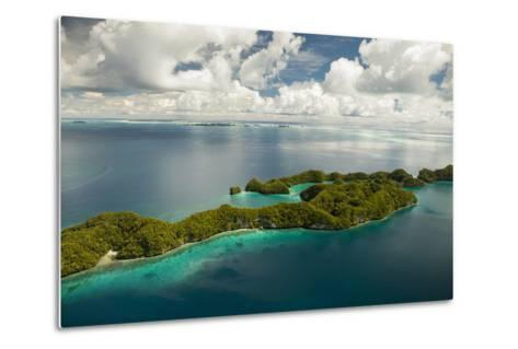 Aerial View of Rock Islands of Palau, Micronesia-Michel Benoy Westmorland-Metal Print