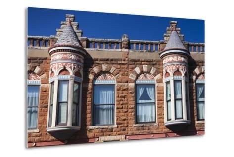 Downtown Historic Buildings, Guthrie, Oklahoma, USA-Walter Bibikow-Metal Print