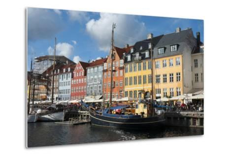 Crowds at Cafes and Restaurants, Nyhavn, Copenhagen, Denmark-Inger Hogstrom-Metal Print