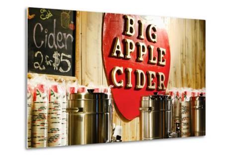 Big Apple Cider for Sale at the Christmas Market in Bryant Park,-Sabine Jacobs-Metal Print