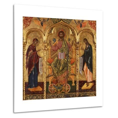 Christ Pantocrator, Virgin and St. John-Onufri Qiprioti-Metal Print
