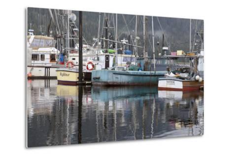 Fishing Boats Moored in Harbor, Petersburg, Alaska, USA-Jaynes Gallery-Metal Print