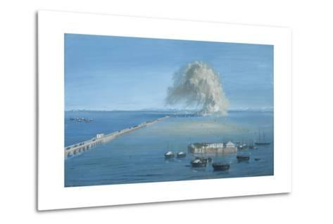 Explosion of a Mine in San Giuliano-Luigi Querena-Metal Print