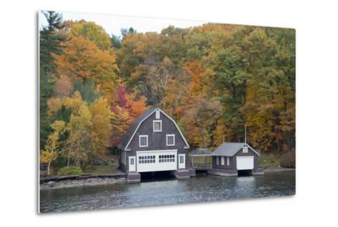 Island Home in Autumn, American Narrows, New York, USA-Cindy Miller Hopkins-Metal Print