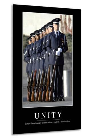 Unity: Inspirational Quote and Motivational Poster--Metal Print