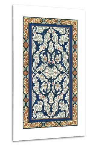 Non-Embellish Persian Ornament III-Vision Studio-Metal Print