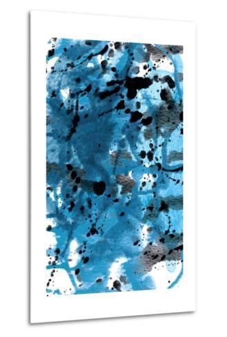 Blue Splatter-GI ArtLab-Metal Print